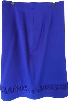 Gianni Versace Blue Wool Skirt for Women Vintage