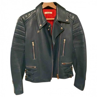 Celine Blue Leather Leather Jacket for Women