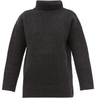 Jacquemus Agde Roll-neck Wool-blend Sweater - Womens - Grey