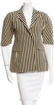Marni Striped Linen-Blend Blazer