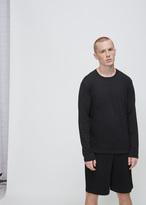 Issey Miyake black long sleeve bio t-shirt