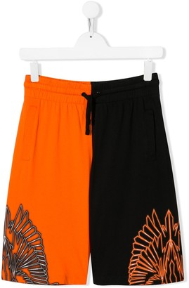 Marcelo Burlon County Of Milan Kids Wings Print Colour Block Shorts