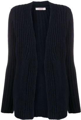 Contrast Knit Cashmere Cardigan