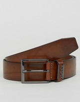 Hugo By Hugo Boss Senol Leather Belt Brown