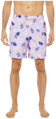 Nautica Tropical Pattern Swimwear (Purple) Men's Swimwear