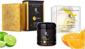 Holy Leaf Cbd Infused Citrus Lotion, Soap & Bath Bomb