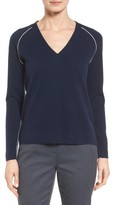Nordstrom Women's Contrast Seam Cashmere Pullover