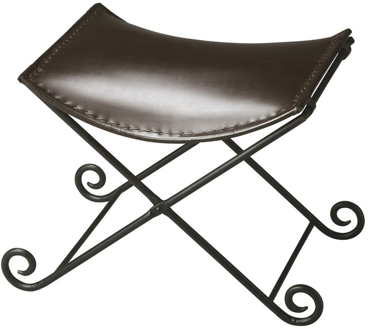 Thumbnail for your product : Butler Handmade Metalworks Leather Stool Ottoman