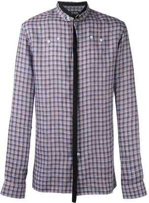 Raf Simons Neck Strap Checked Shirt