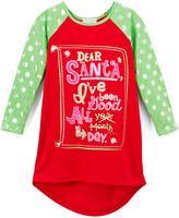 Komar Kids Red & Green Polka Dot 'Dear Santa' Nightgown - Girls