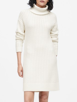 Banana Republic Petite Turtleneck Sweater Dress