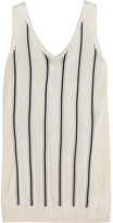 Lanvin Striped Stretch-knit Tank - Ivory