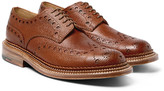 Grenson - Archie Triple-welt Pebble-grain Leather Wingtip Brogues