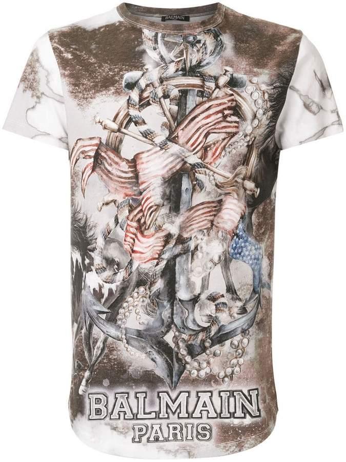 Balmain printed T-shirt