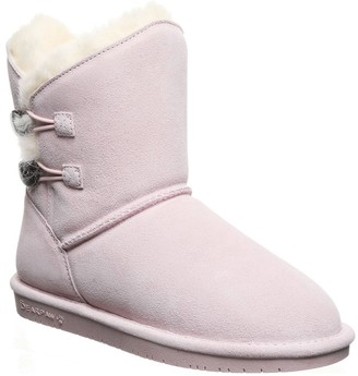 BearPaw Rosaline Genuine Shearling Lined Suede Boot (Toddler)