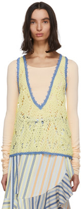 J.W.Anderson Yellow Crochet Tank Top