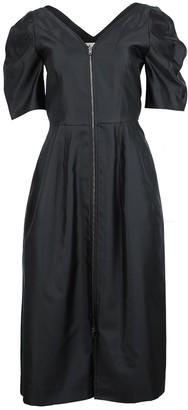 Zipped Short Sleeve Dress Black