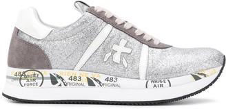 Premiata Conny glittered platform sneakers