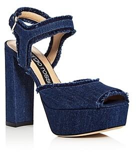 Sergio Rossi Women's Monica High Block-Heel Platform Sandals