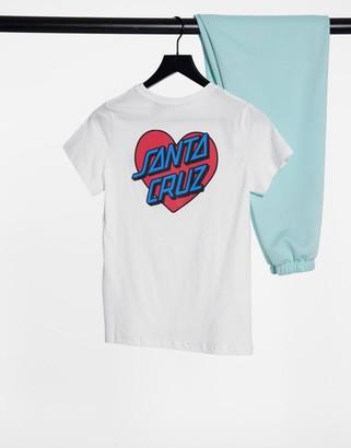 Santa Cruz Heart Dot t-shirt in white