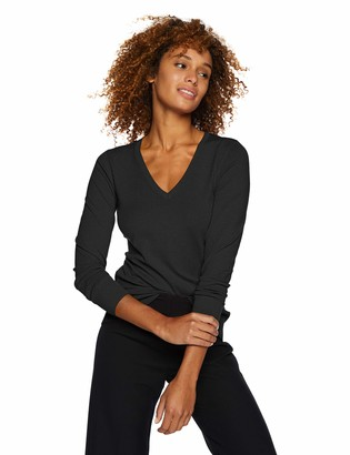 Lark & Ro Amazon Brand Women's Long Sleeve V-Neck Sweater