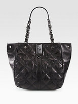 Sabrina Quilted Leather Tote Bag