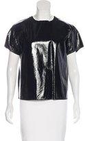 Bottega Veneta Short Sleeve Patent Leather Top w/ Tags