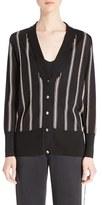 Lanvin Women's Intarsia Stripe Cardigan