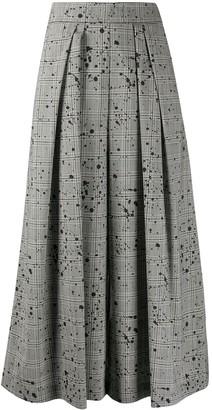 Antonio Marras Splattered Plaid Trousers