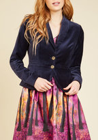 Asmara International Limited Velvet Executive Blazer in Navy