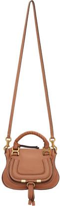 Chloé Brown Mini Marcie Double Shoulder Bag