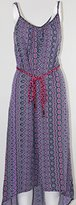 Sanctuary Womens Printed Hi-Low Casual Dress Purple M