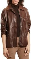 Lauren Ralph Lauren Leather Flight Jacket