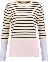 Chinti and Parker Ribbed Striped Wool And Cashmere Sweater