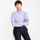 Paul Smith Men's Tailored-Fit Sky Blue Charm-Button Contrast Cuff Shirt