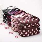 Big Bargain Store Travel Dot Zip Womens Toiletry Bag Cosmetic Makeup Wash Organizer Case