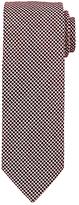 John Lewis Mini Grid Tie, Burgundy/White