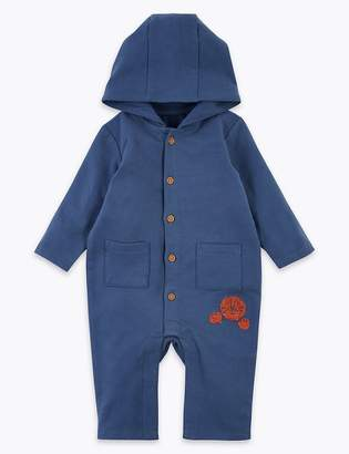 Marks and Spencer Cotton Rich Hooded All in One