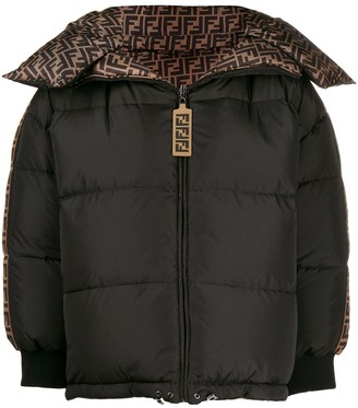 Fendi Ff Logo Puffer Jacket