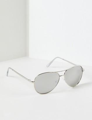 Lane Bryant Aviator Sunglasses With Embellished Bar