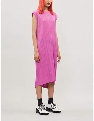 Pleats Please Issey Miyake Monthly Colors cap-sleeve crepe dress