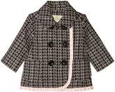 Kate Spade Tweed Coat (Toddler/Kid) - Black/Slipper - 2