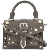 Versus studded buckle strap satchel