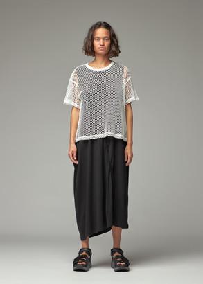 Y's by Yohji Yamamoto Women's Big Mesh Short Sleeve T-Shirt in Off White Size 2