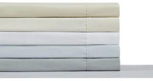Charisma 400TC Percale Cotton Twin Sheet Set Bedding