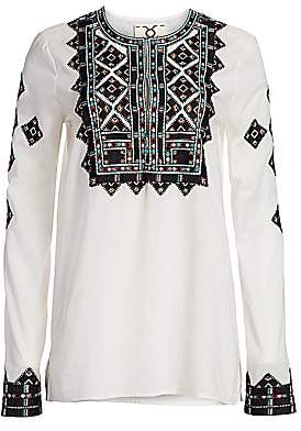 Figue Women's Iris Embroidery Tunic Top