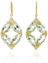 Jamie Wolf Marquis Pav Point Earrings with Green Amethyst and White Diamonds