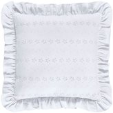 Piper & Wright Lucy Eyelet & Ruffled Sateen Square Pillow