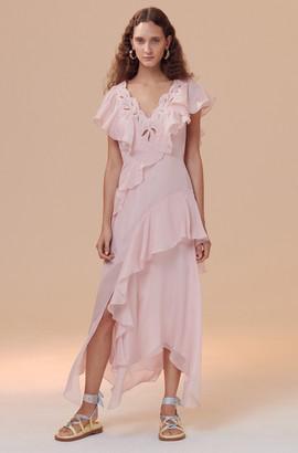 Rebecca Taylor Hana Applique Embroidered Dress