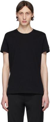 Balmain Black Embossed Sleeves T-Shirt